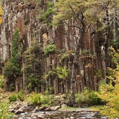 Basalto columnar, en Huisa