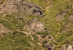 Rocas a la vista por erosión en Mitrauquén Alto