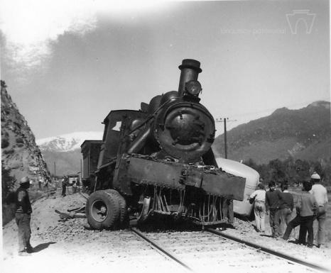 Accidente ferroviario en sector La Puntilla, 1968
