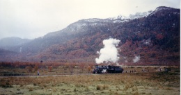 Locomotora en Sierra Nevada