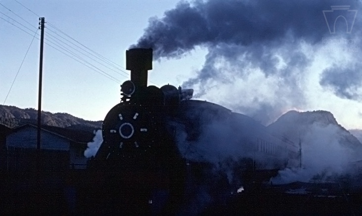 Tren en estación de Lonquimay a principios de los años 80