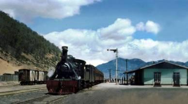 Tren en Estación de Lonquimay